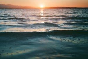 Ocean Calm Sunset