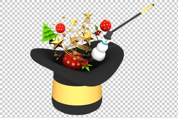 Christmas 3D Render PNG