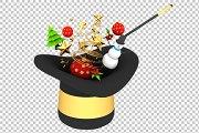Christmas 3D Render PNG