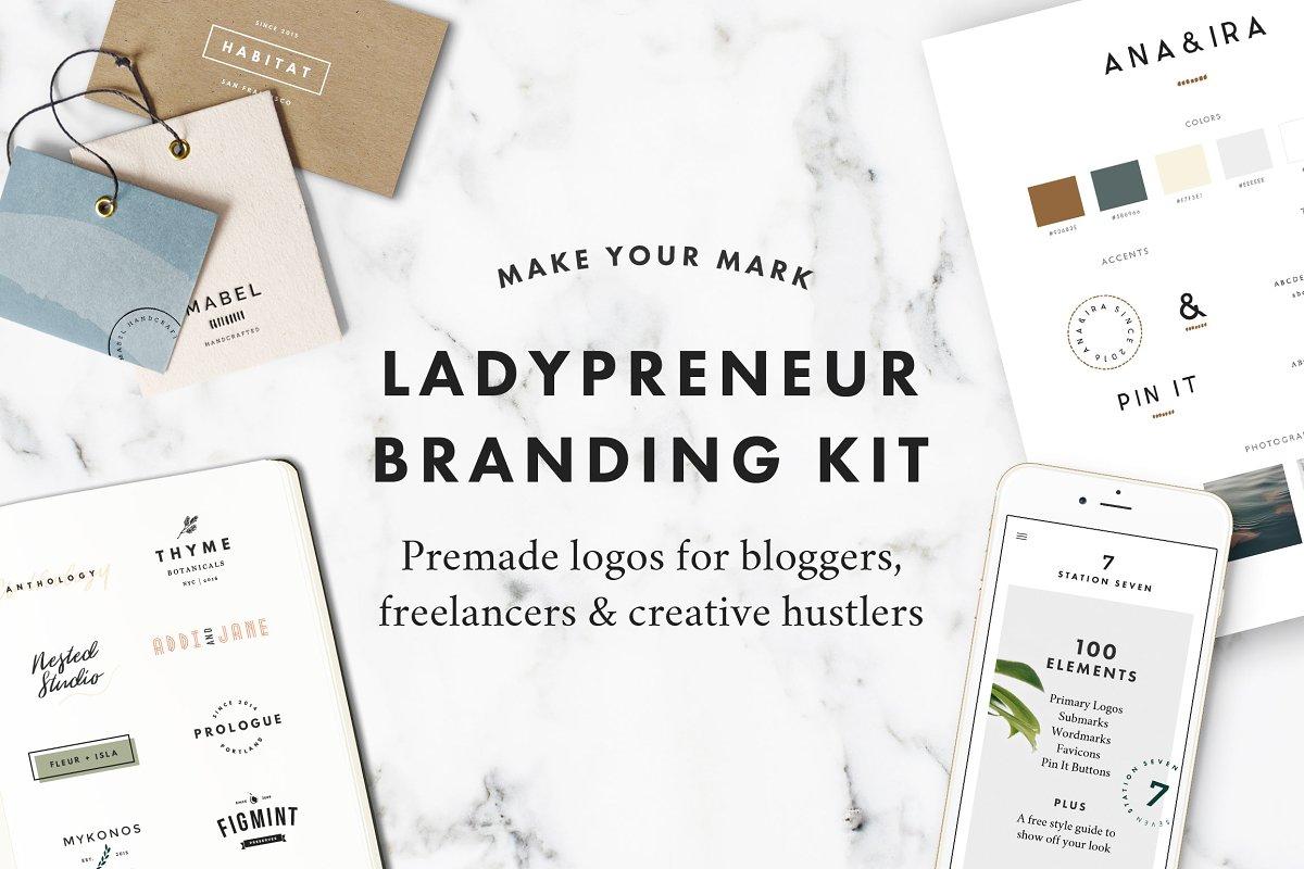 Ladypreneur Branding Kit ~ Logo Templates ~ Creative Market