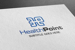 Health Point Style Logo