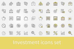 Investment icons set