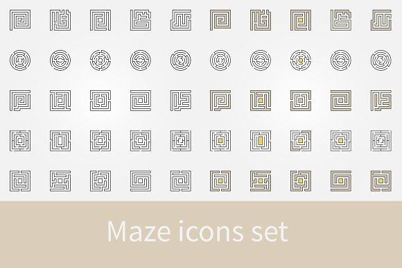 Maze Icons Set