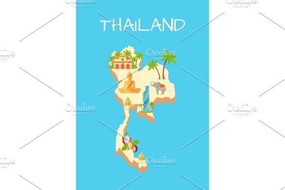 Thailand Island Isolated On Azure Background