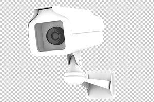 CCTV Camera - 3D Render PNG