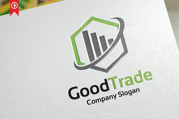 Good Trade Chart Logo Template