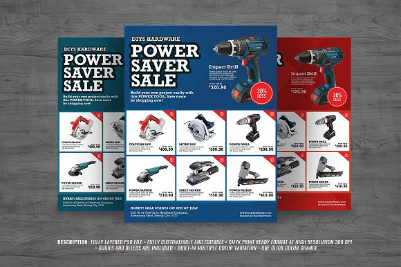 power sales flyer flyer templates creative market