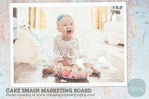 IJ001 Cake Smash Marketing Board