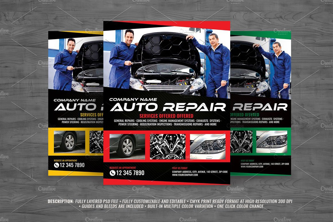 car repair flyer photos graphics fonts themes templates