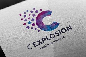 C Explosion (C Letter) Logo