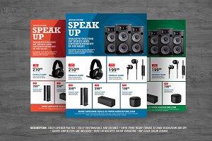 Audio Sales Flyer