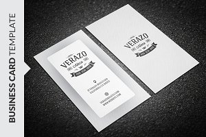Clean vintage business card business card templates creative market simple retro business card flashek Choice Image
