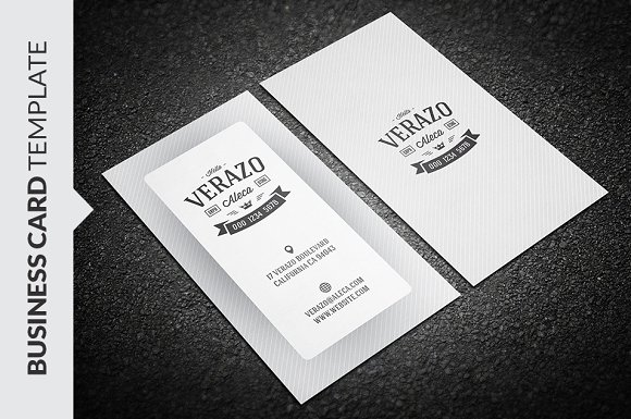 Simple retro business card business card templates creative market reheart Gallery