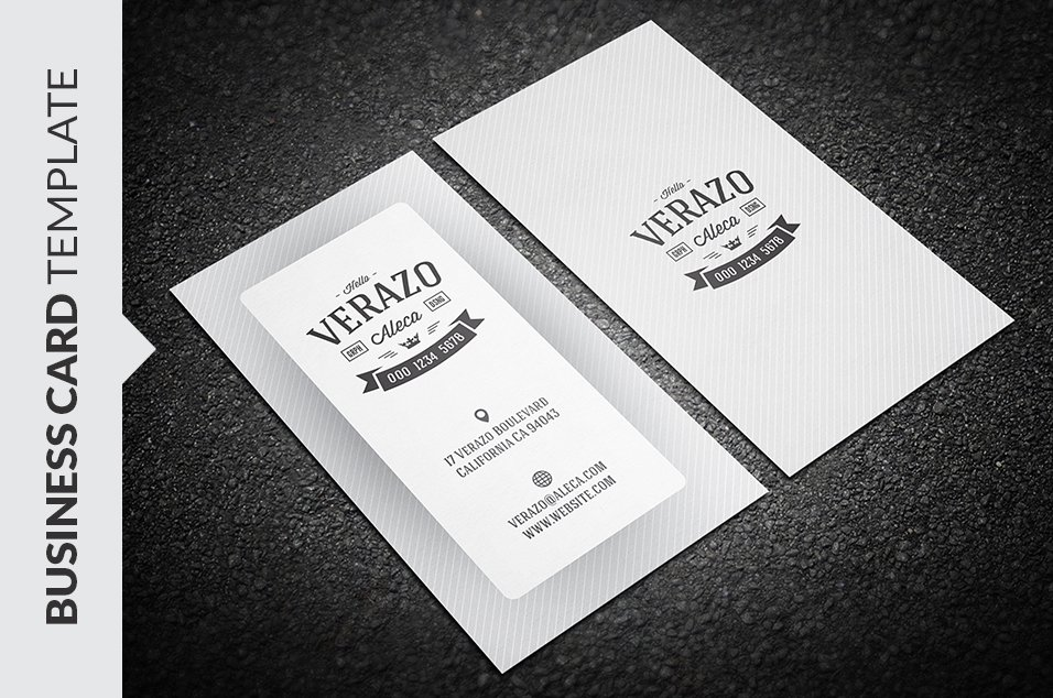 Simple Retro Business Card ~ Business Card Templates ~ Creative Market