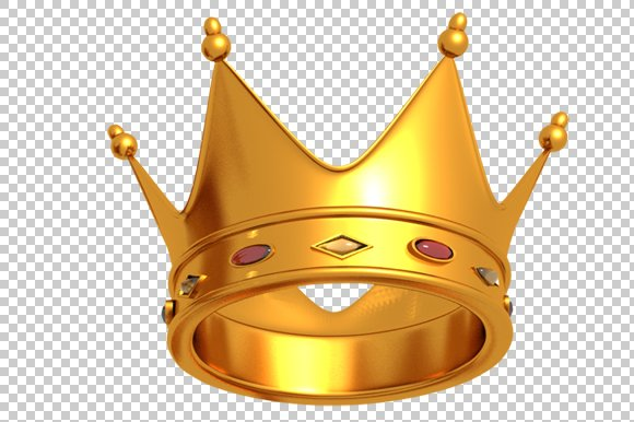 Crown - 3D Render PNG in Graphics