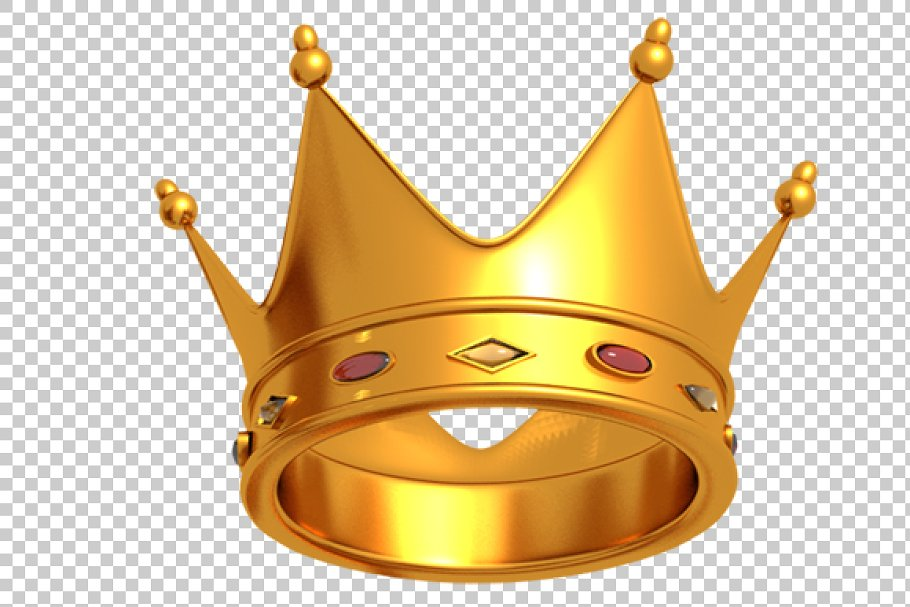 Crown - 3D Render PNG in Graphics - product preview 8