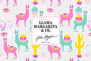 Llama Margarita and Company pattern