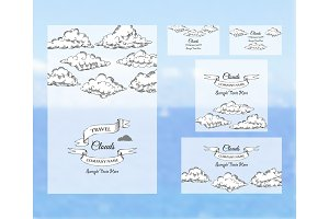 Template corporate identity with clouds