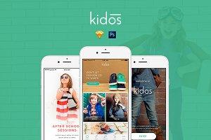 Kidos - Kids Clothing iOS UI Kit