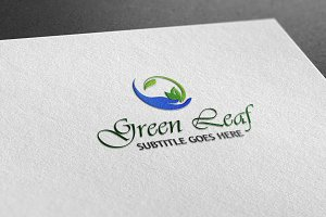 Green Leaf Style Logo