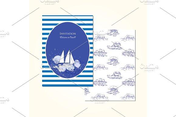 Sea Travel Invitation Card