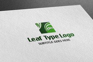 Leaf Type Logo