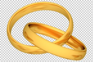 Gold Rings - 3D Render PNG