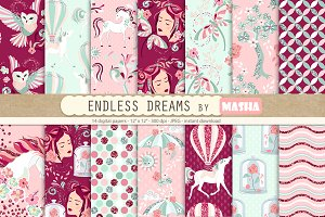 ENDLESS DREAMS digital paper