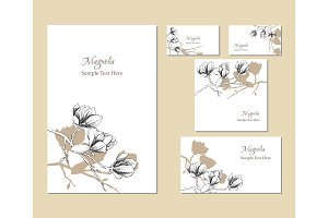 Template corporate identity with magnolia