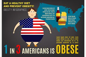 Obesity Vector Infographics