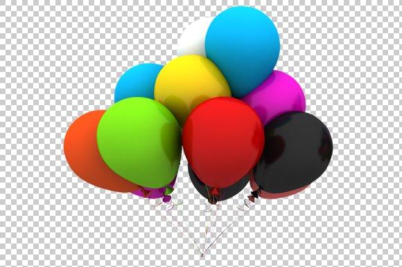 Real Art Design Group : Balloons d render png graphics creative market