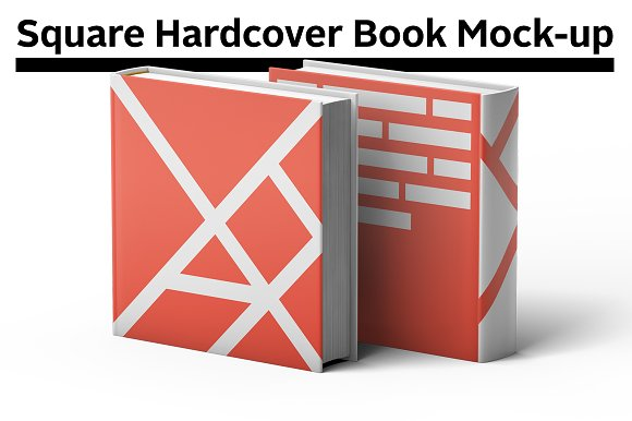 Download Square Hardcover Book Mock-up