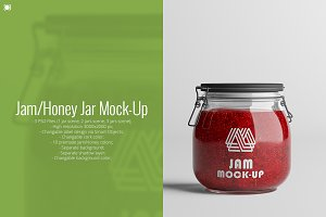 Jam/Honey Jar Mock-Up