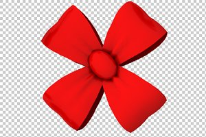 Decorative Bow - 3D Render PNG