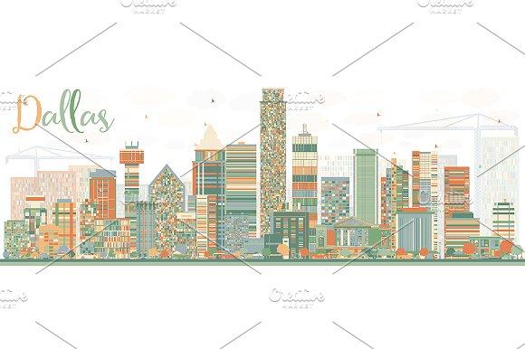 Abstract Dallas Skyline