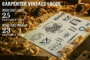 VINTAGE CARPENTER LOGOS SET