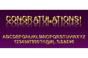 Congratulations! Golden alphabet