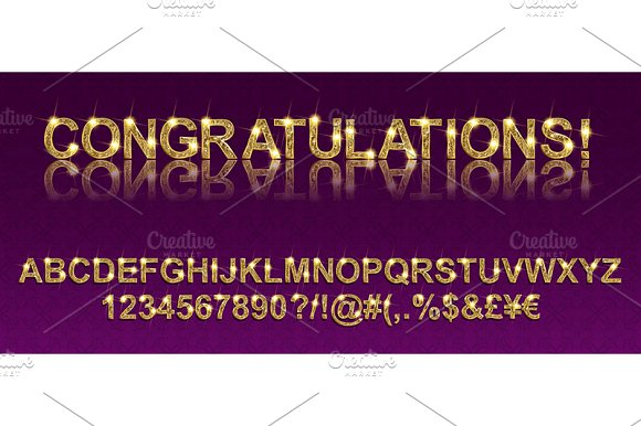 Congratulations Golden Alphabet