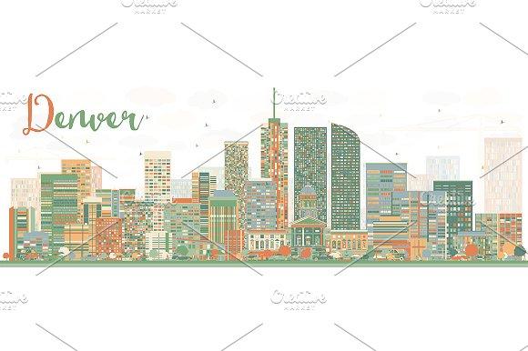 Abstract Denver Skyline