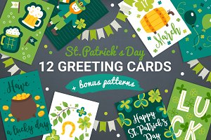 12 Patrick Cards + Bonus Patterns