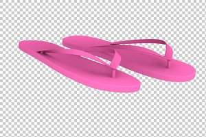 Slippers - 3D Render PNG
