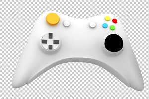 Game Controller - 3D Render PNG