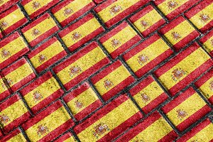 Spain Flag Urban Grunge Pattern