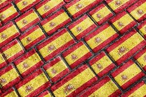 Spain Flag Urban Grunge Pattern