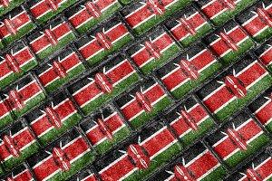 Kenya Flag Urban Grunge Pattern