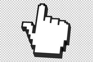 Hand Cursor - 3D Render PNG