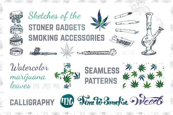 Weed. Stoner gadgets & accessories