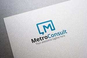 Metro Consult Letter M Logo
