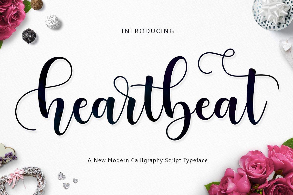 Heartbeat Script ~ Script Fonts ~ Creative Market