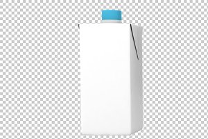 Milk Pack - 3D Render PNG